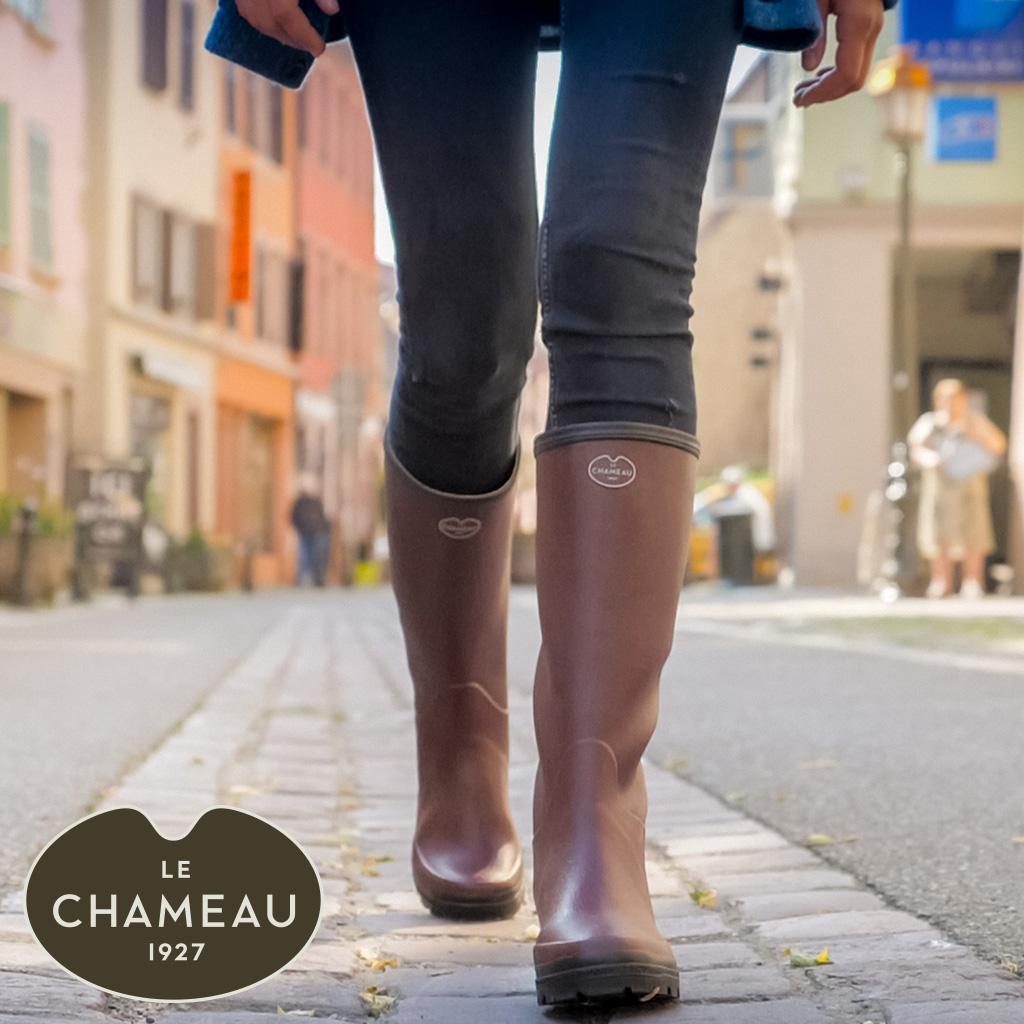 Frau mit Stiefeln von Le Chameau